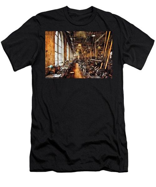 Machinist - Machine Shop Circa 1900's Men's T-Shirt (Slim Fit) by Mike Savad