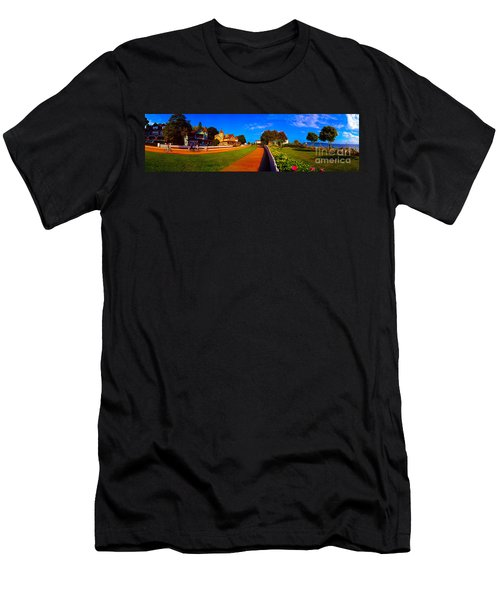 Mackinac Island Flower Garden  Men's T-Shirt (Athletic Fit)