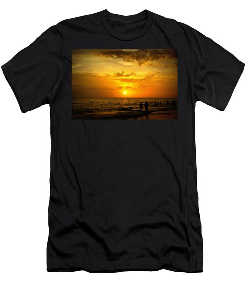 Men's T-Shirt (Slim Fit) featuring the photograph Madeira Sunset by Laurie Perry