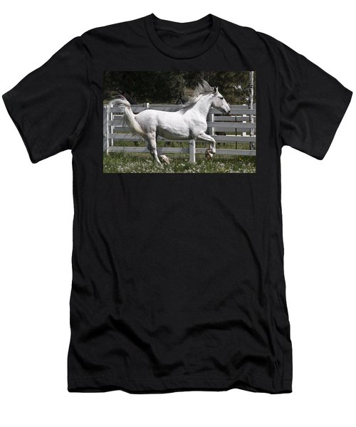 Men's T-Shirt (Slim Fit) featuring the photograph Maestoso Aurorra D3990 by Wes and Dotty Weber