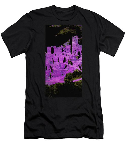 Magenta Dwelling Men's T-Shirt (Athletic Fit)