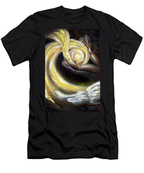 Men's T-Shirt (Slim Fit) featuring the painting Magic by Hiroko Sakai