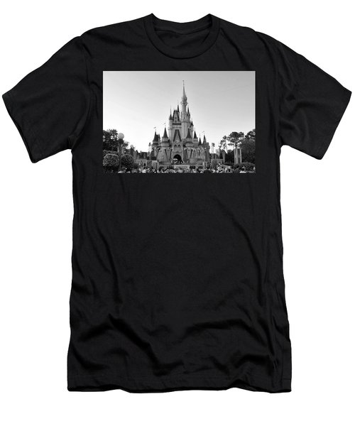 Magic Kingdom Castle In Black And White Men's T-Shirt (Athletic Fit)