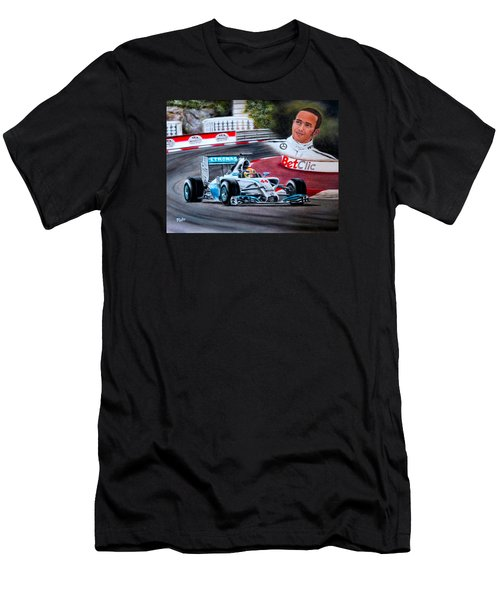 Magic Of Monaco-lewis Hamilton Men's T-Shirt (Athletic Fit)