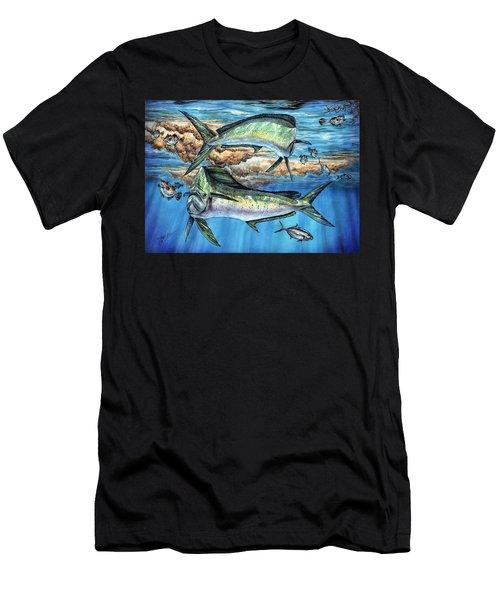 Magical Mahi Mahi Sargassum Men's T-Shirt (Athletic Fit)