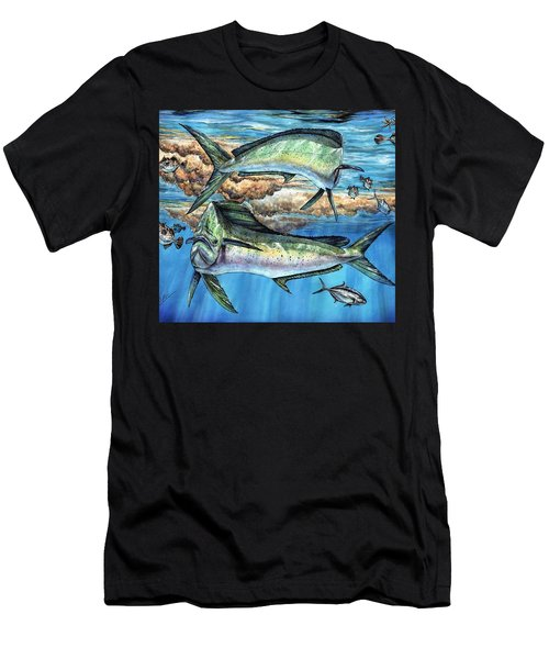 Magical Mahi Mahi Sargassum Men's T-Shirt (Athletic Fit)