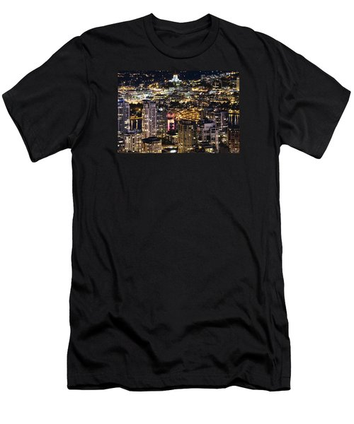 Men's T-Shirt (Slim Fit) featuring the photograph Magical Yaletown Harbor Mdxlix by Amyn Nasser