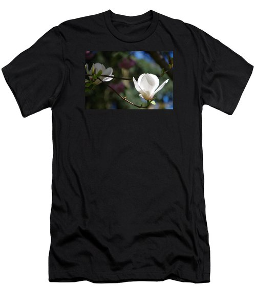 Magnolia Blossoms Men's T-Shirt (Slim Fit) by Marilyn Wilson