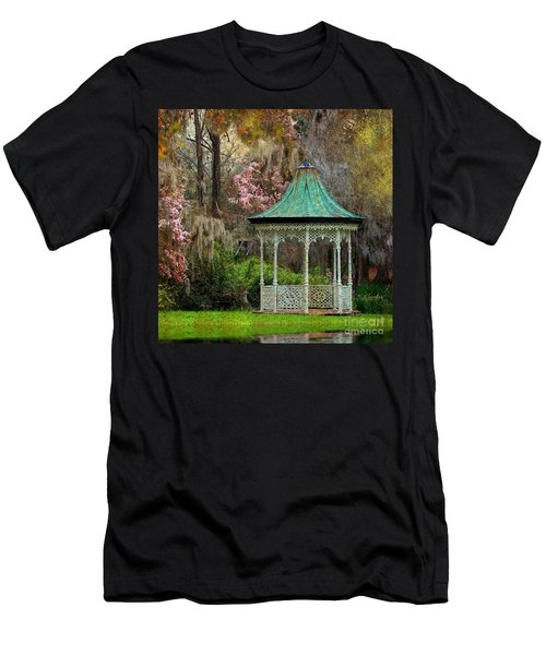 Magnolia Garden Throw Pillow Men's T-Shirt (Athletic Fit)