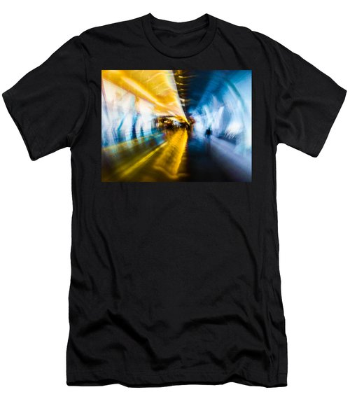 Men's T-Shirt (Slim Fit) featuring the photograph Main Access Tunnel Nyryx Station by Alex Lapidus