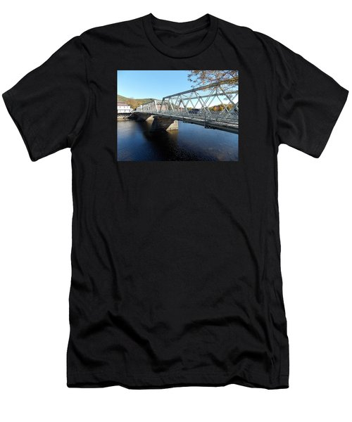 Main Street Bridge Shelbourne Falls  Men's T-Shirt (Athletic Fit)