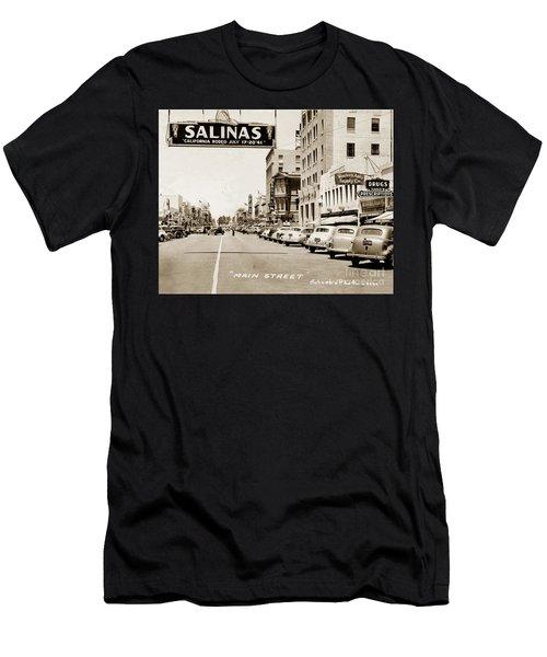 Main Street Salinas California 1941 Men's T-Shirt (Athletic Fit)