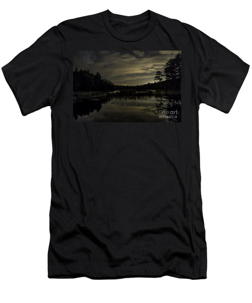 Maine Beaver Pond At Night Men's T-Shirt (Athletic Fit)