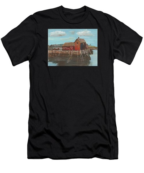 Maine Fishing Shack Men's T-Shirt (Athletic Fit)