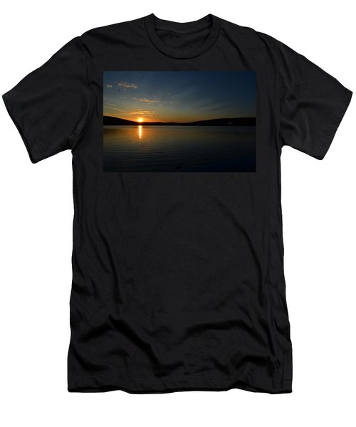 Men's T-Shirt (Slim Fit) featuring the photograph Maine Sunset by James Petersen