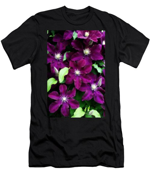 Majestic Amethyst Colored Clematis Men's T-Shirt (Athletic Fit)