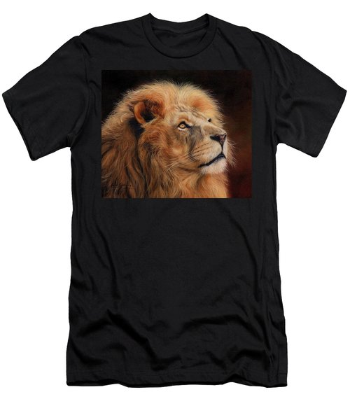 Majestic Lion Men's T-Shirt (Slim Fit)