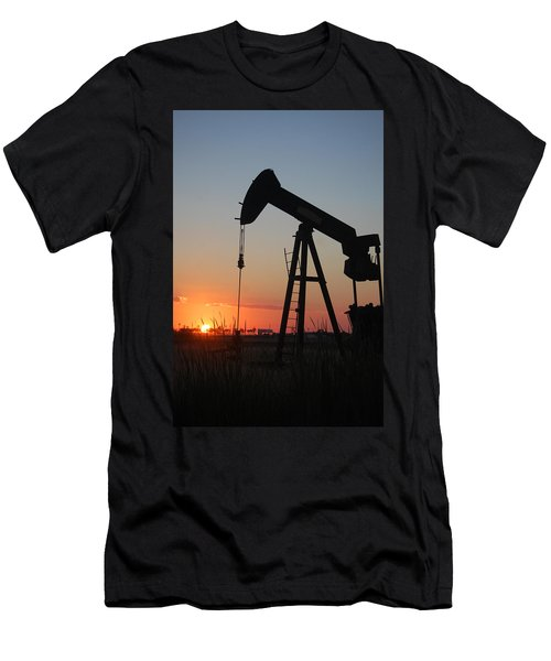 Making Tea At Sunset Men's T-Shirt (Slim Fit) by Leticia Latocki