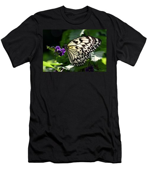 Men's T-Shirt (Slim Fit) featuring the photograph Malabar Tree Nymph  by Suzanne Stout