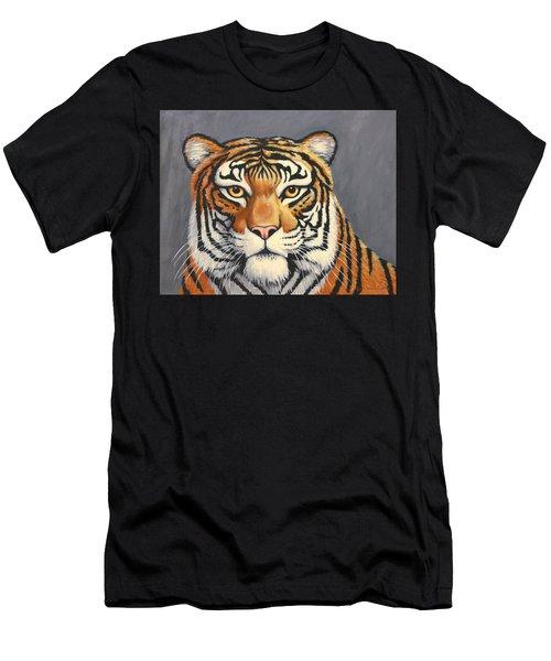 Malayan Tiger Portrait Men's T-Shirt (Athletic Fit)