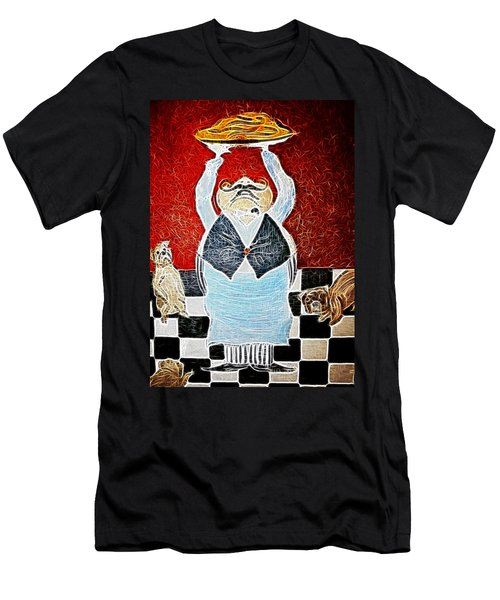 Mamas Pizza Man Men's T-Shirt (Athletic Fit)