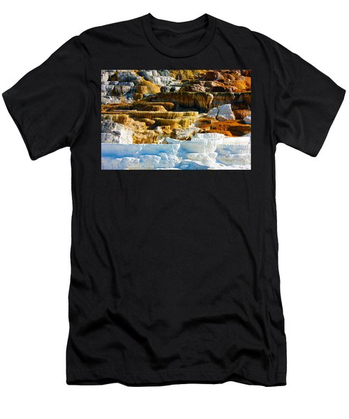 Mammoth Hot Springs Rock Formation No1 Men's T-Shirt (Athletic Fit)