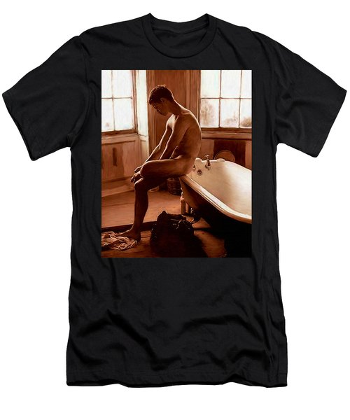 Man And Bath Men's T-Shirt (Athletic Fit)
