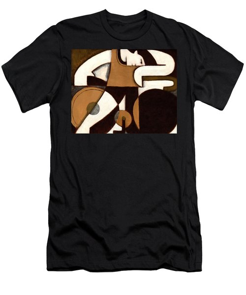 Tommervik Art Deco Man And Bike Cycling Art Print Men's T-Shirt (Athletic Fit)