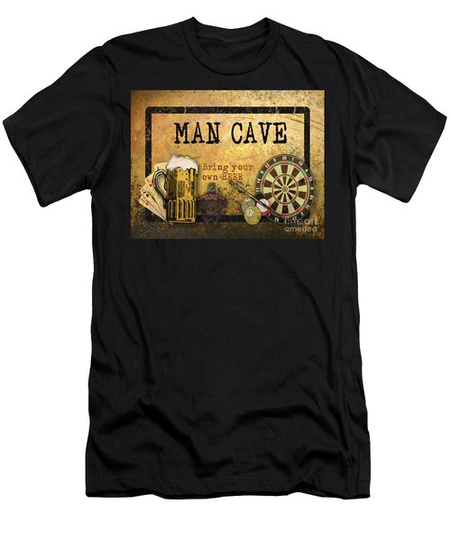 Man Cave-bring Your Own Beer Men's T-Shirt (Athletic Fit)