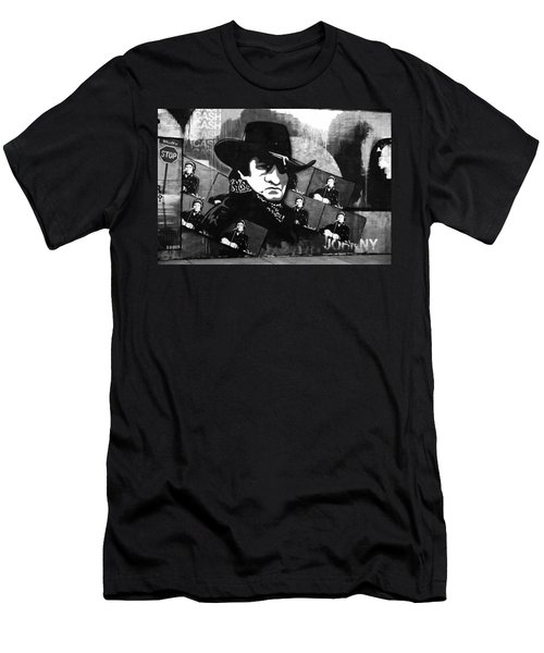 Man In Black Men's T-Shirt (Athletic Fit)