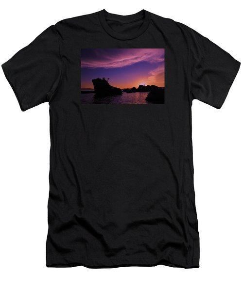 Men's T-Shirt (Slim Fit) featuring the photograph Man In Sun At Bonsai Rock by Sean Sarsfield