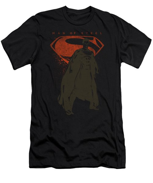 Man Of Steel - Faded Superman Men's T-Shirt (Athletic Fit)