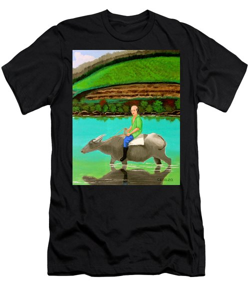Man Riding A Carabao Men's T-Shirt (Athletic Fit)