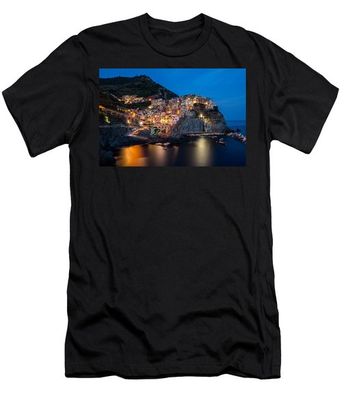 Manarola Men's T-Shirt (Slim Fit) by Mihai Andritoiu