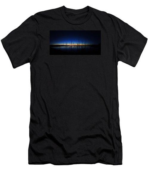 Men's T-Shirt (Slim Fit) featuring the photograph Manasquan Reservoir At Dawn by Raymond Salani III