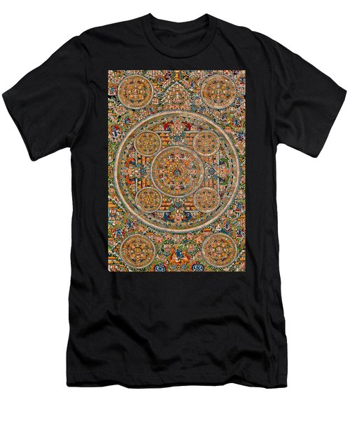 Mandala Of Heruka In Yab Yum And Buddhas Men's T-Shirt (Athletic Fit)