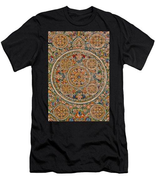 Mandala Of Heruka In Yab Yum And Buddhas Men's T-Shirt (Slim Fit) by Lanjee Chee