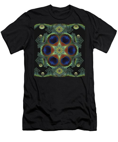 Men's T-Shirt (Slim Fit) featuring the digital art Mandala Peacock  by Nancy Griswold