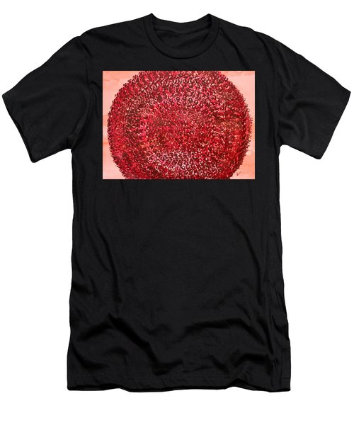 Mandala Sun Original Painting Men's T-Shirt (Athletic Fit)