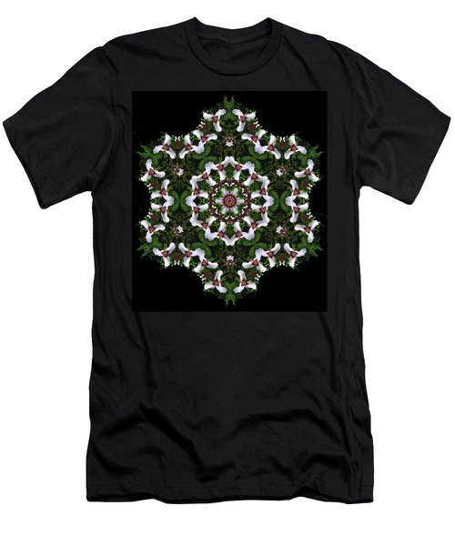 Mandala Trillium Holiday Men's T-Shirt (Athletic Fit)