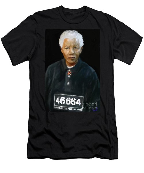 Men's T-Shirt (Slim Fit) featuring the digital art Mandela by Vannetta Ferguson