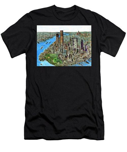 New York Downtown Manhattan 1972 Men's T-Shirt (Athletic Fit)