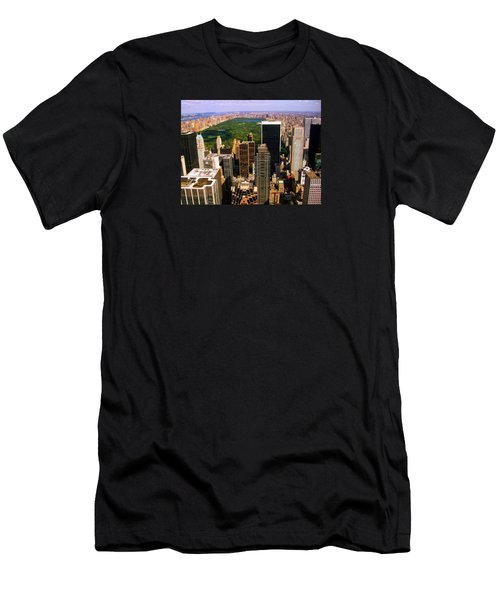 Manhattan And Central Park Men's T-Shirt (Athletic Fit)