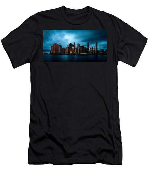 Men's T-Shirt (Athletic Fit) featuring the photograph Manhattan At Dawn by Chris Lord