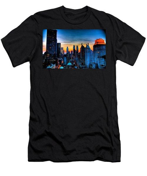 Manhattan At Sunset Men's T-Shirt (Athletic Fit)