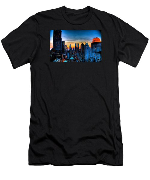 Manhattan At Sunset Men's T-Shirt (Athletic Fit)
