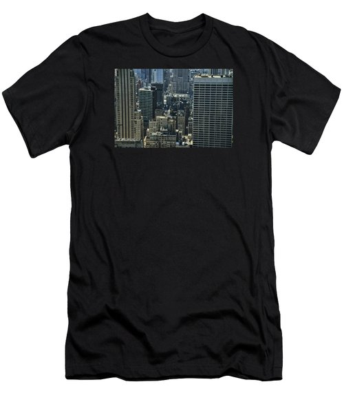 Manhattan From Above Men's T-Shirt (Athletic Fit)