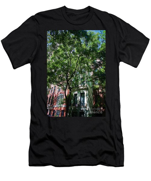 Men's T-Shirt (Slim Fit) featuring the photograph Manhattan Upper East Side Late Summer by Andy Prendy