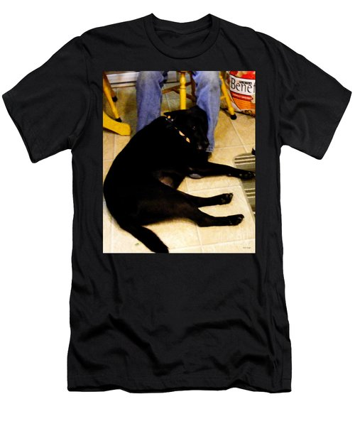 Men's T-Shirt (Slim Fit) featuring the photograph Man's Best Friend by Barbara Griffin
