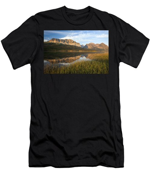 Men's T-Shirt (Slim Fit) featuring the photograph Many Glacier Reflections by Jack Bell